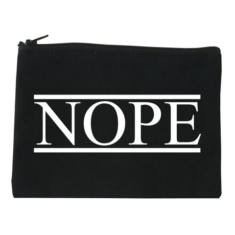 Nope Cosmetic Makeup Bag by Very Nice Clothing