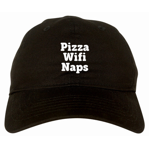 Pizza Wifi Naps Dad Hat by Very Nice Clothing