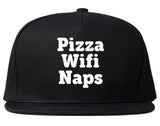 Pizza Wifi Naps Snapback Hat by Very Nice Clothing