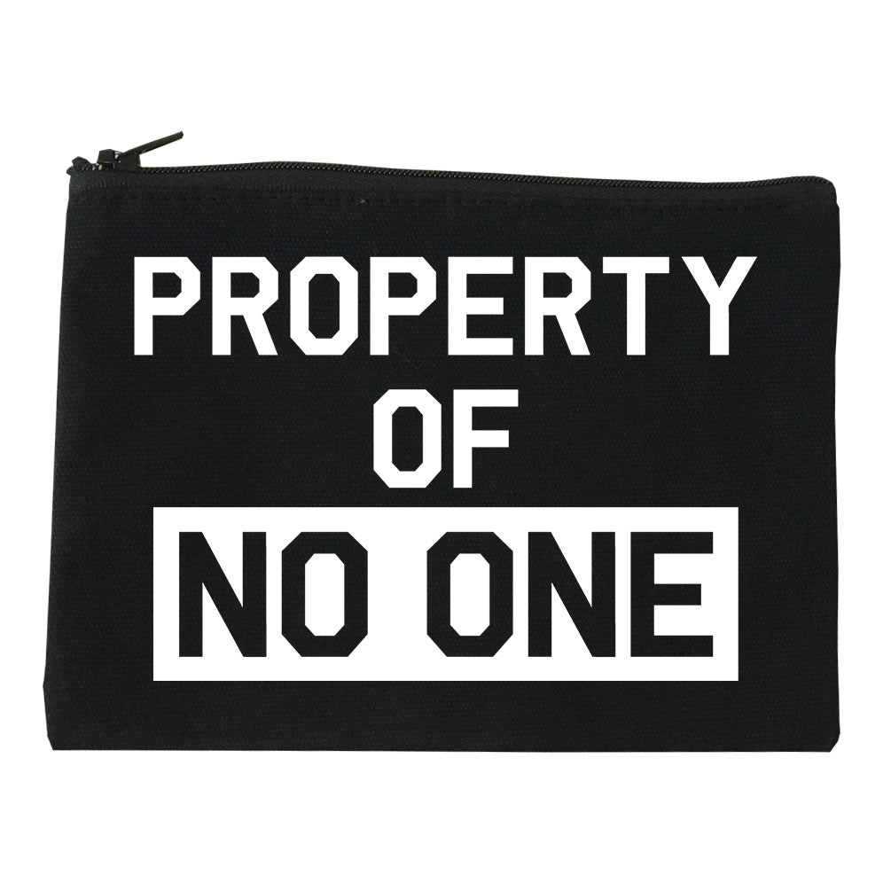 Property Of No One Cosmetic Makeup Bag by Very Nice Clothing