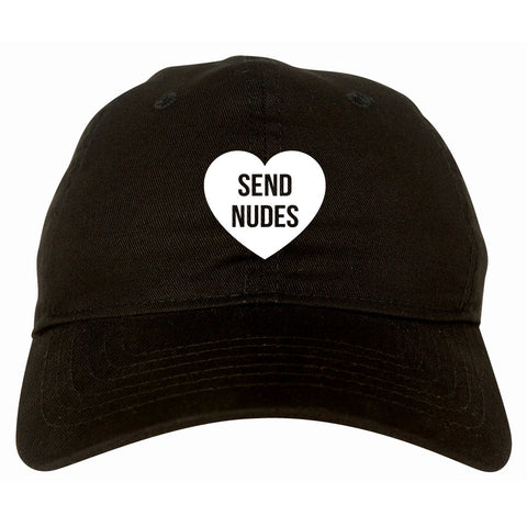 Send Nudes Heart Dad Hat by Very Nice Clothing
