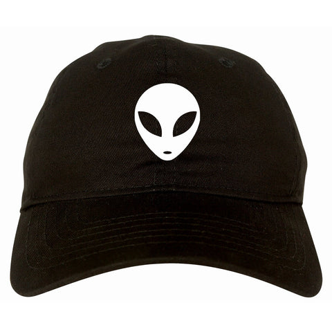 Alien Head Dad Hat Black