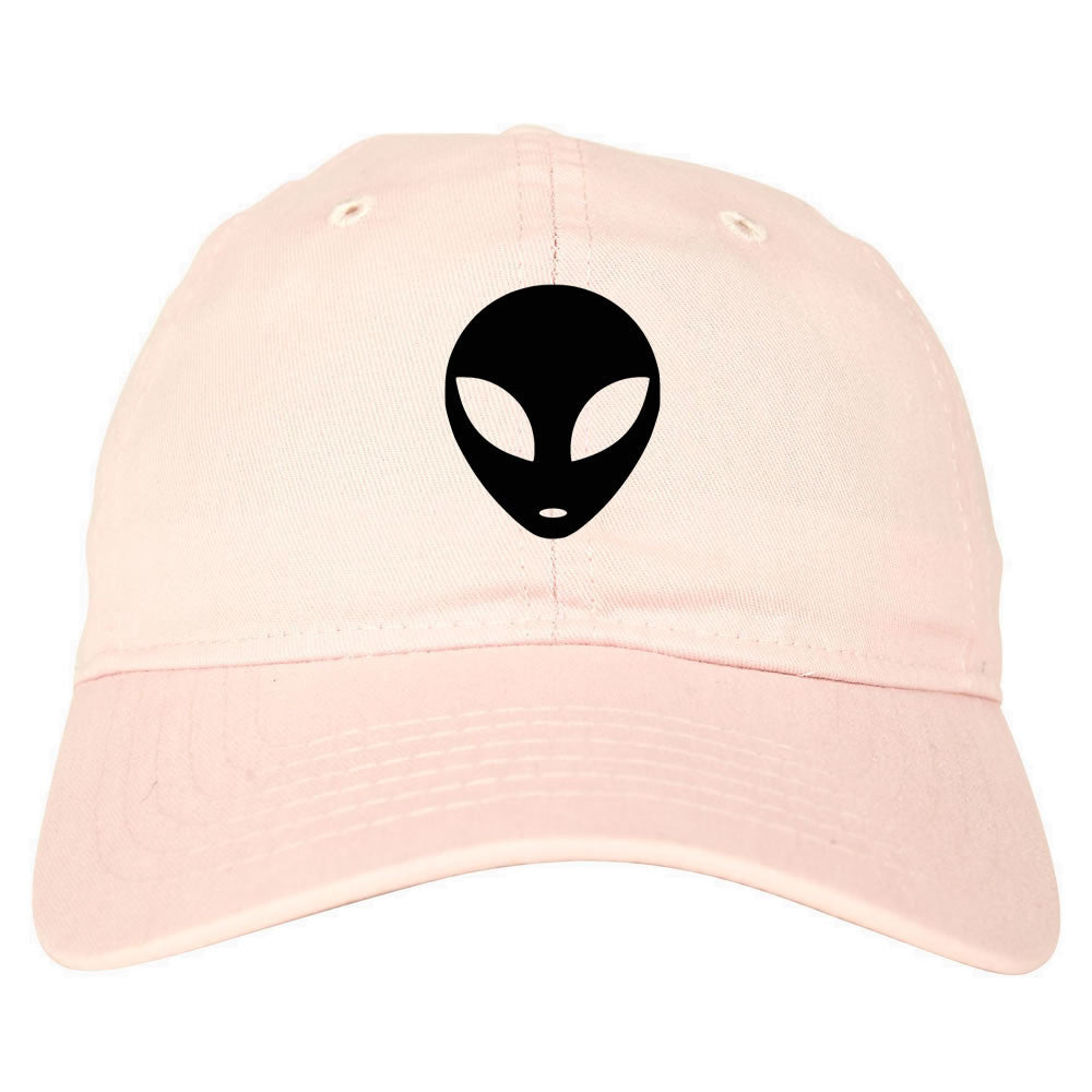 Alien Head Dad Hat Pink