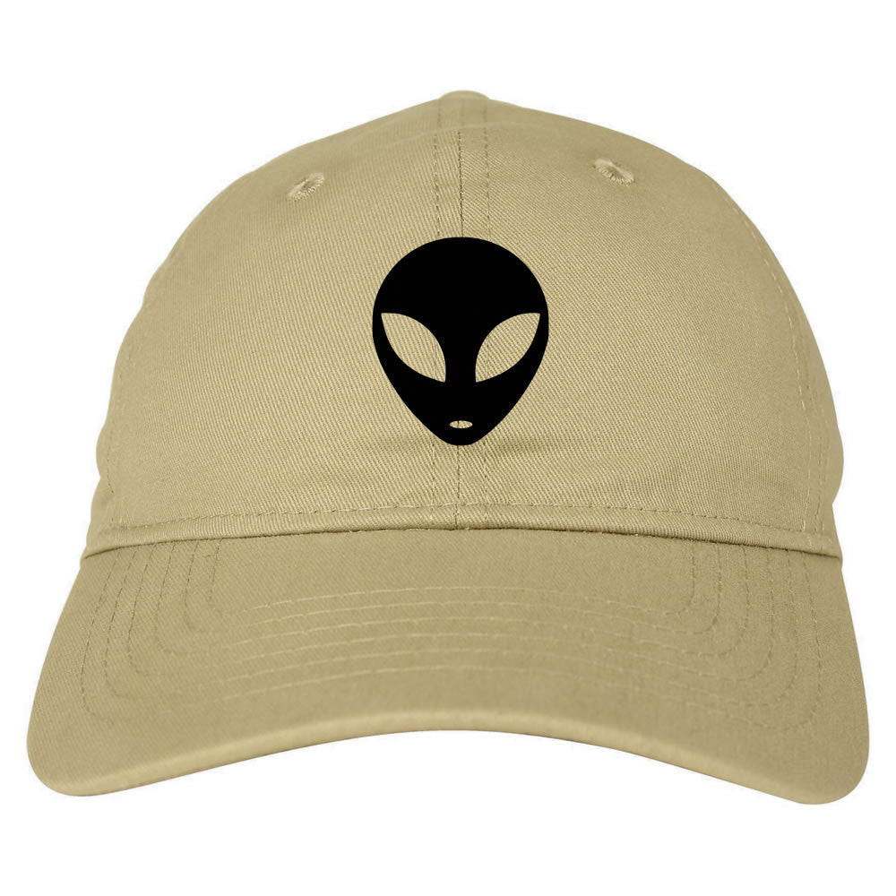 Alien Head Dad Hat beige