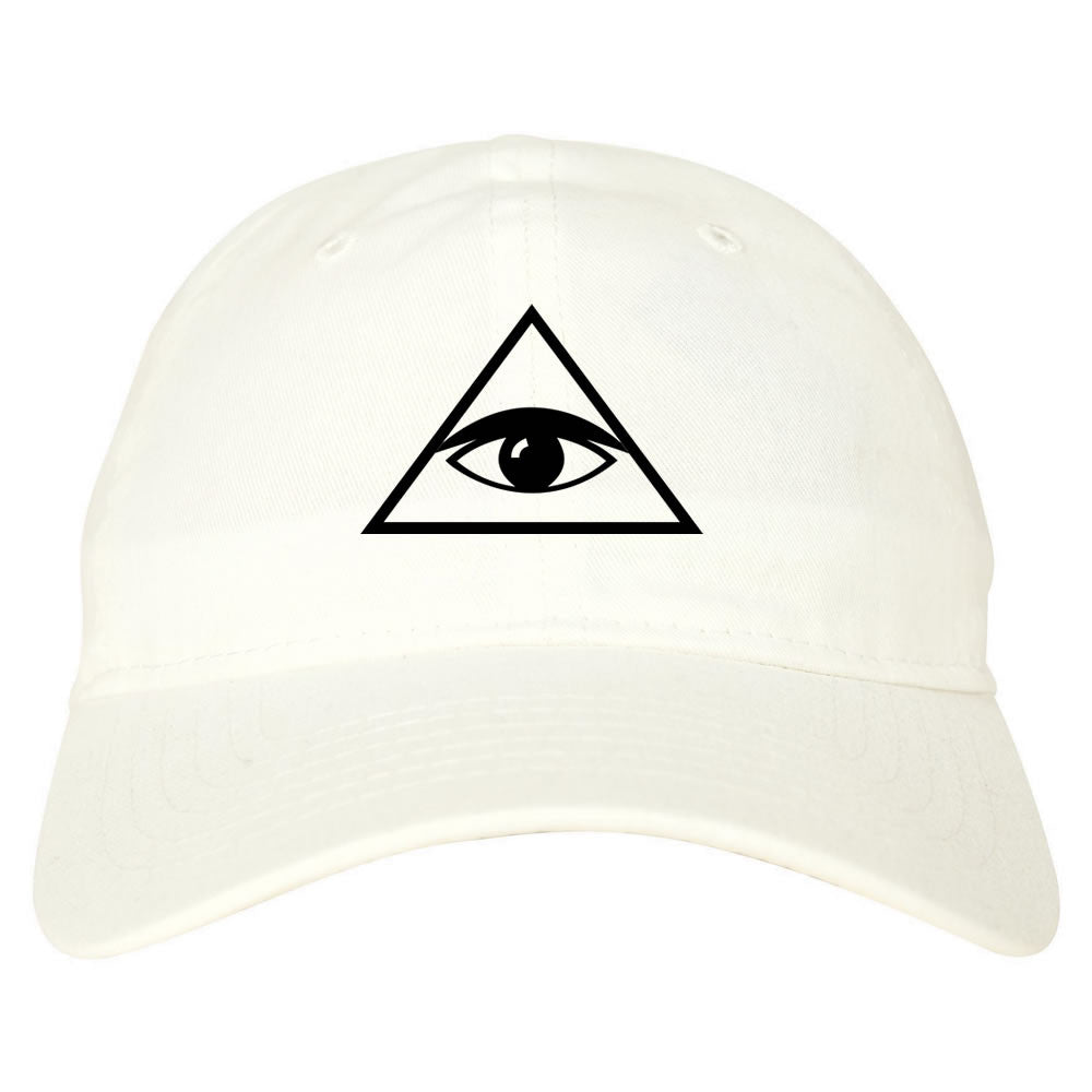 All Seeing Eye Dad Hat White