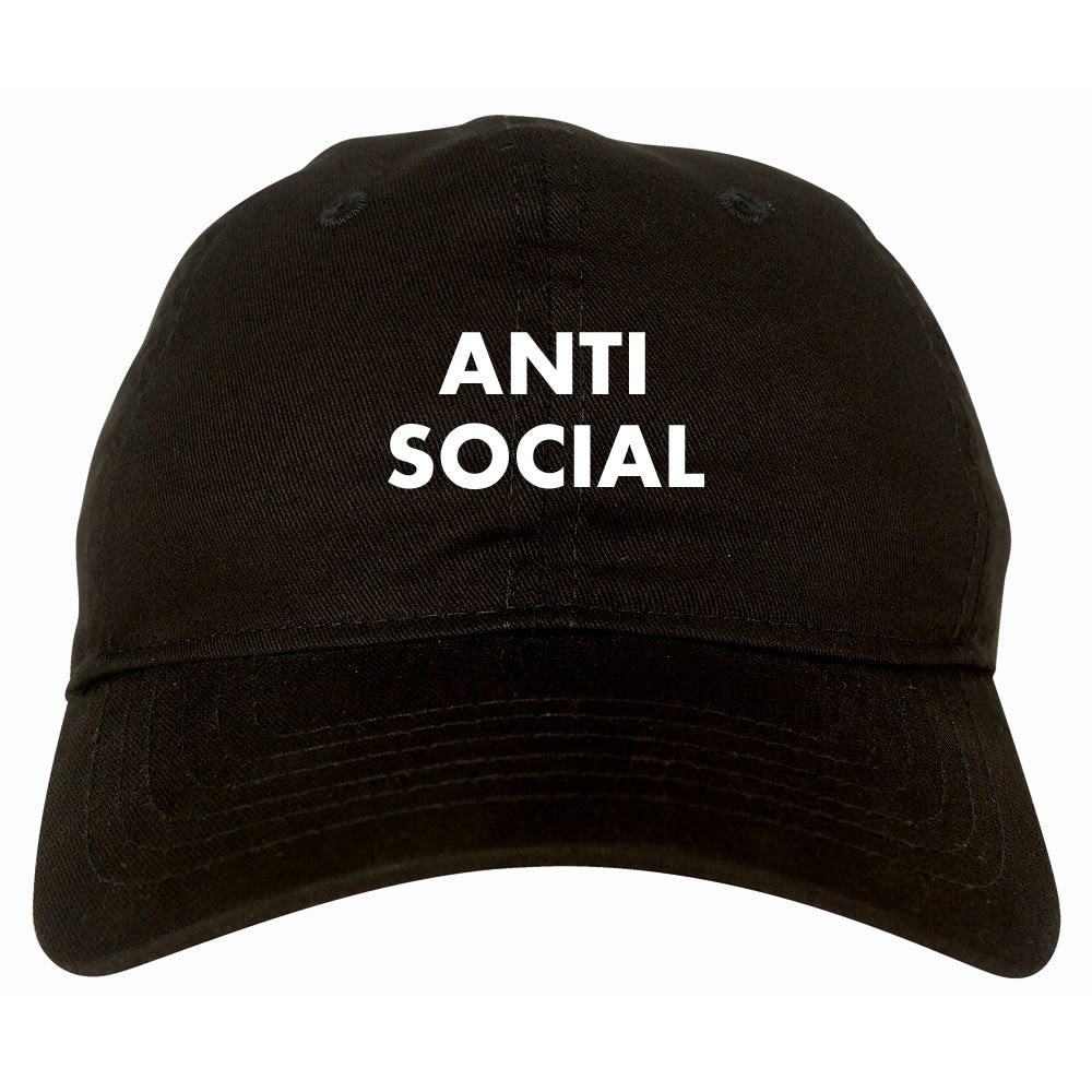 Anti Social Dad Hat Black