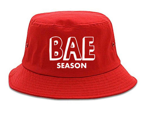 Very Nice Bae Season Babe Black Bucket Hat Red