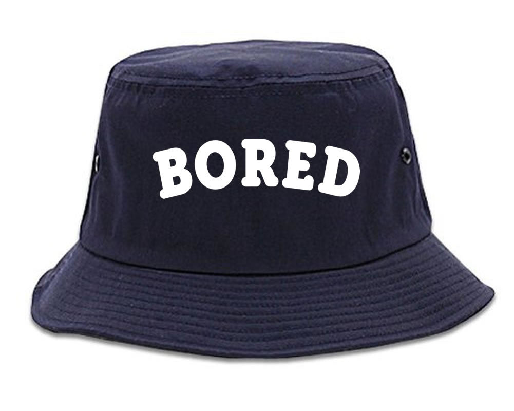 Very Nice Bored Arch Lazy Black Bucket Hat Navy Blue