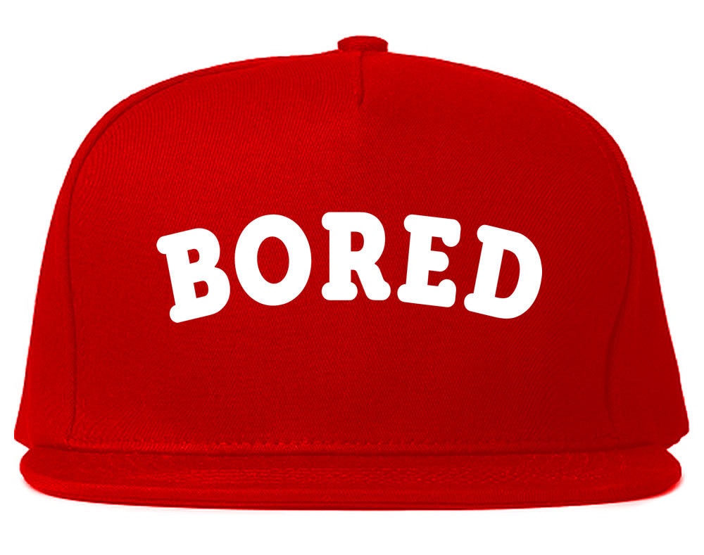 Very Nice Bored Arch Lazy Black Snapback Hat Red