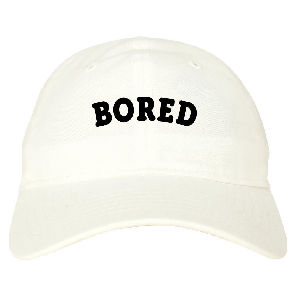 Bored Dad Hat White