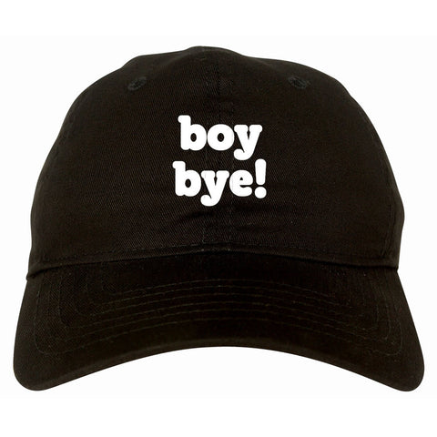 Boy Bye Dad Hat in Black