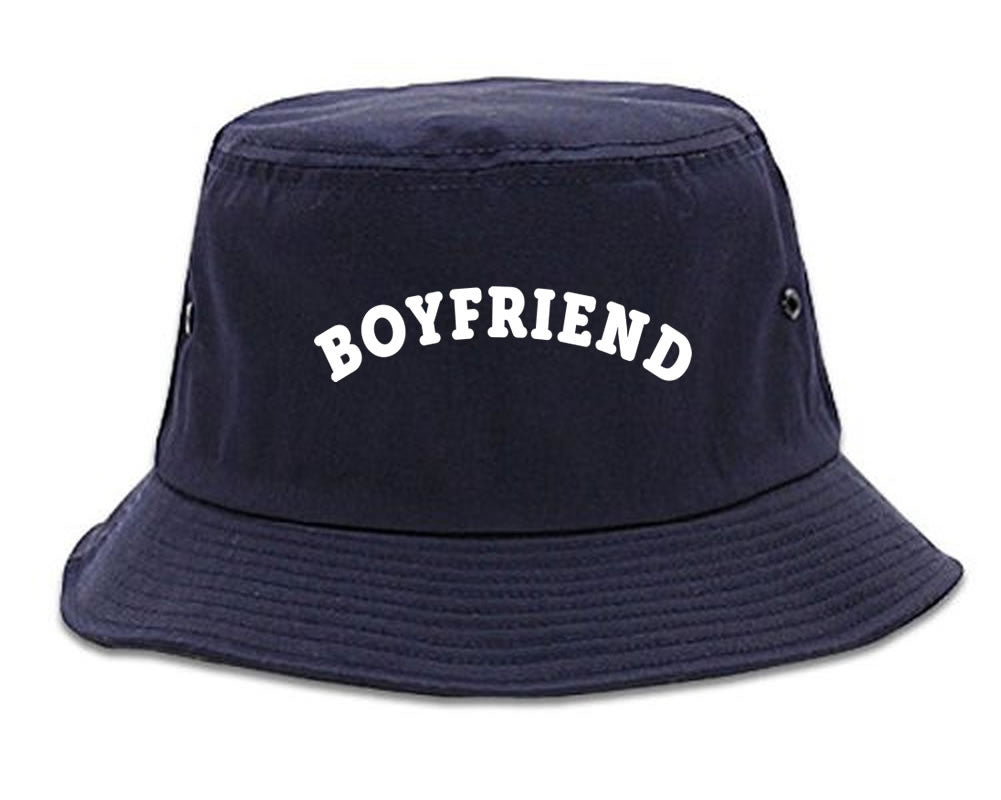 Very Nice Boyfriend BF BFF Black Bucket Hat Navy Blue