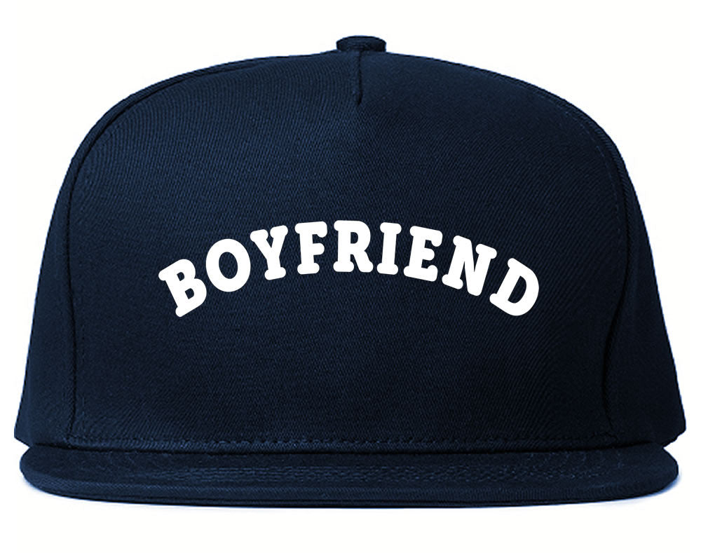 Very Nice Boyfriend BF BFF Black Snapback Hat Navy Blue