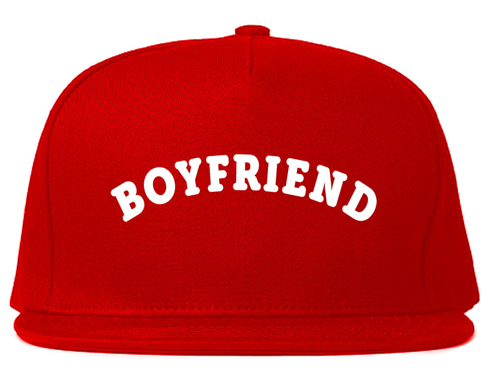 Very Nice Boyfriend BF BFF Black Snapback Hat Red