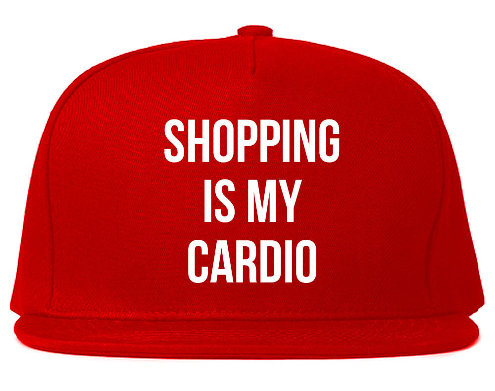 Very Nice Shopping Is My Cardio Black Snapback Hat Red