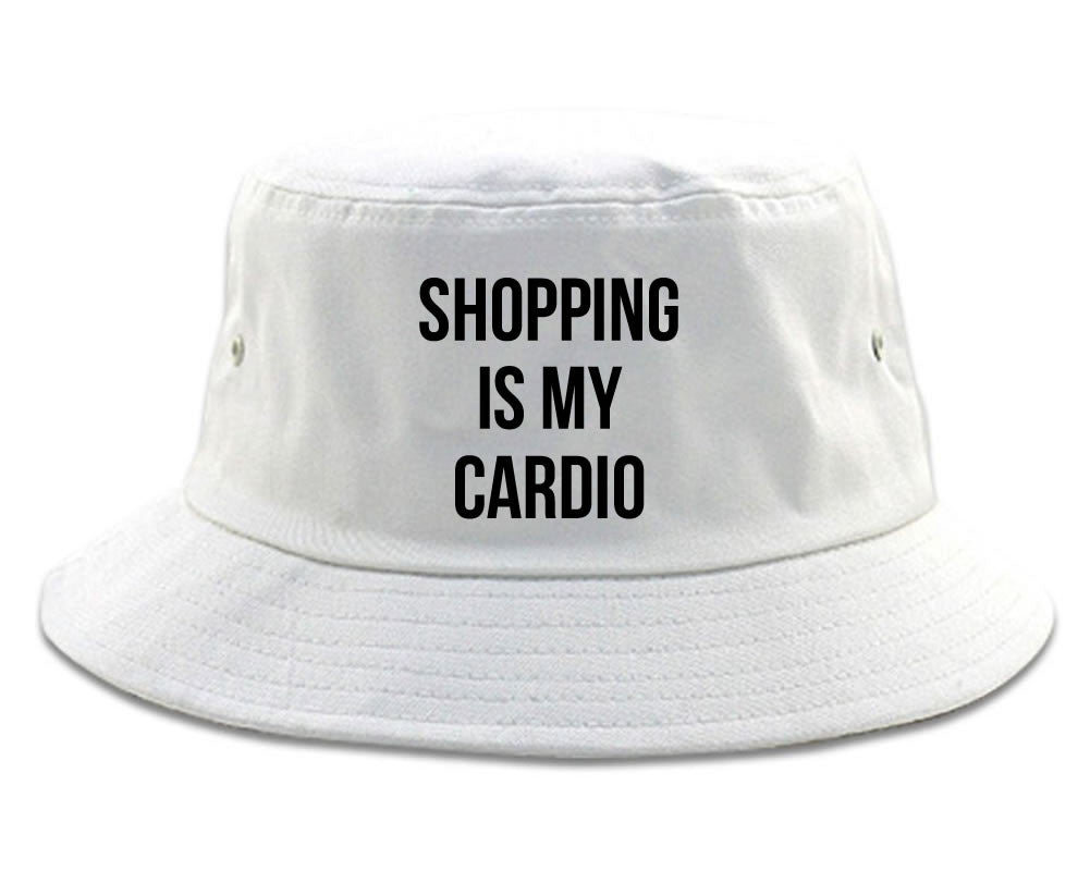 Very Nice Shopping Is My Cardio Black Bucket Hat