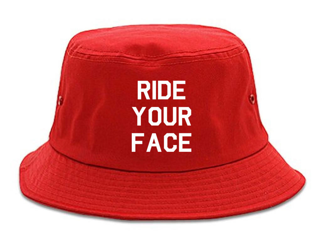Very Nice Ride Your Face 69 Sexy Black Bucket Hat Red
