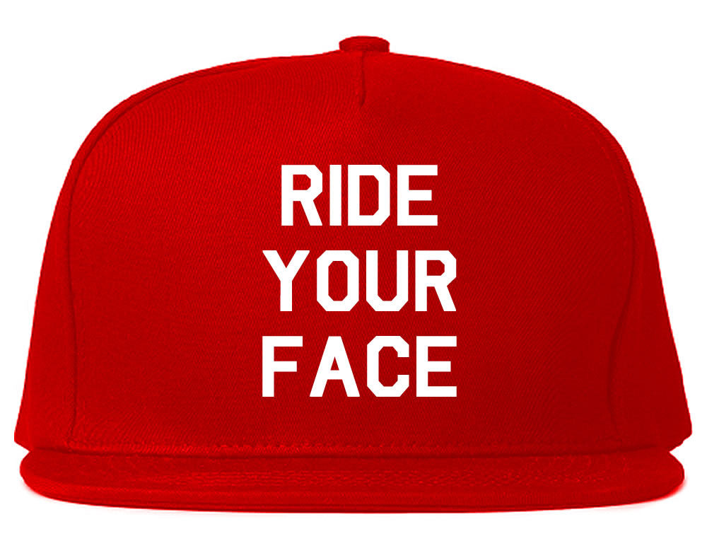 Very Nice Ride Your Face 69 Sexy Black Snapback Hat Red
