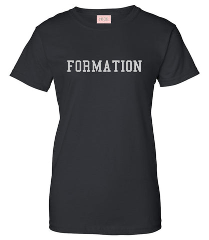 Formation Womens T-Shirt Tee Black