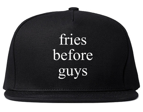 Fries Before Guys Snapback Hat by Very Nice Clothing