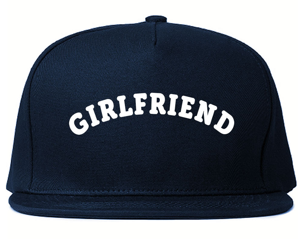 Very Nice Girlfriend GF BFF Black Snapback Hat Navy Blue