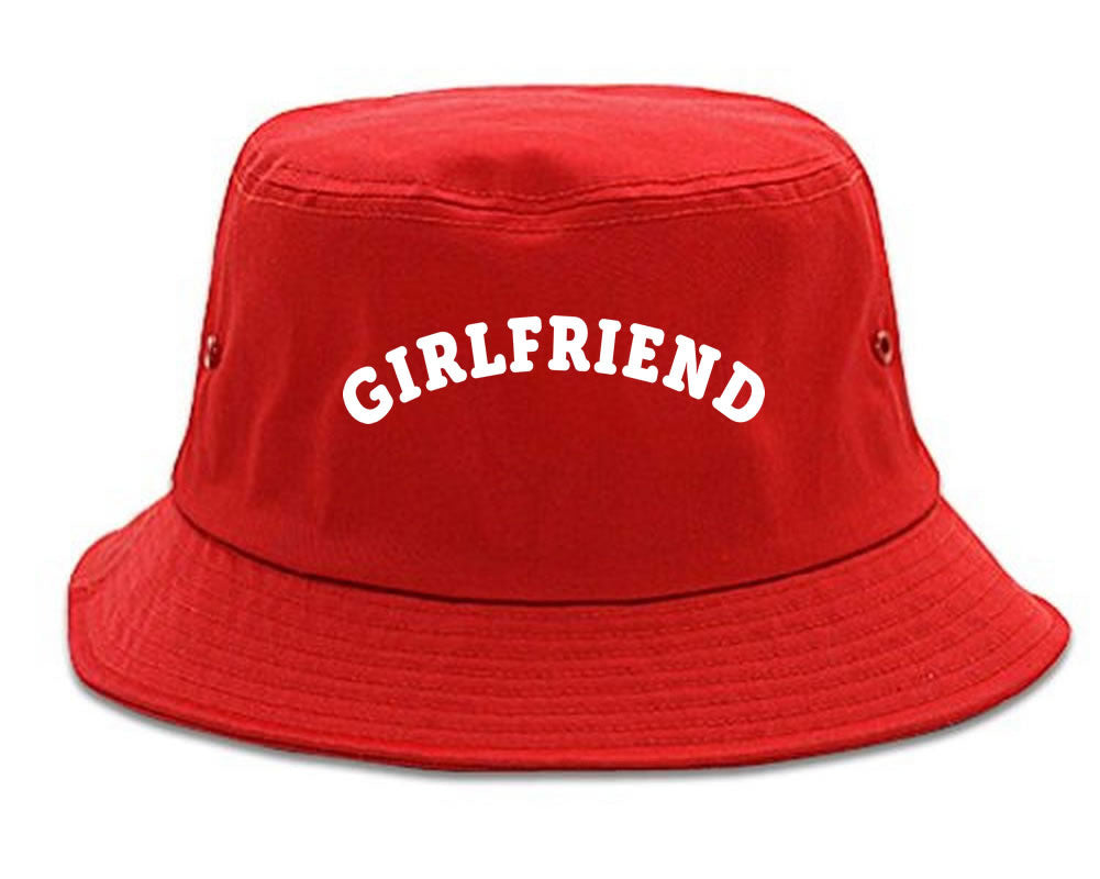 Very Nice Girlfriend GF BFF Black Bucket Hat Red