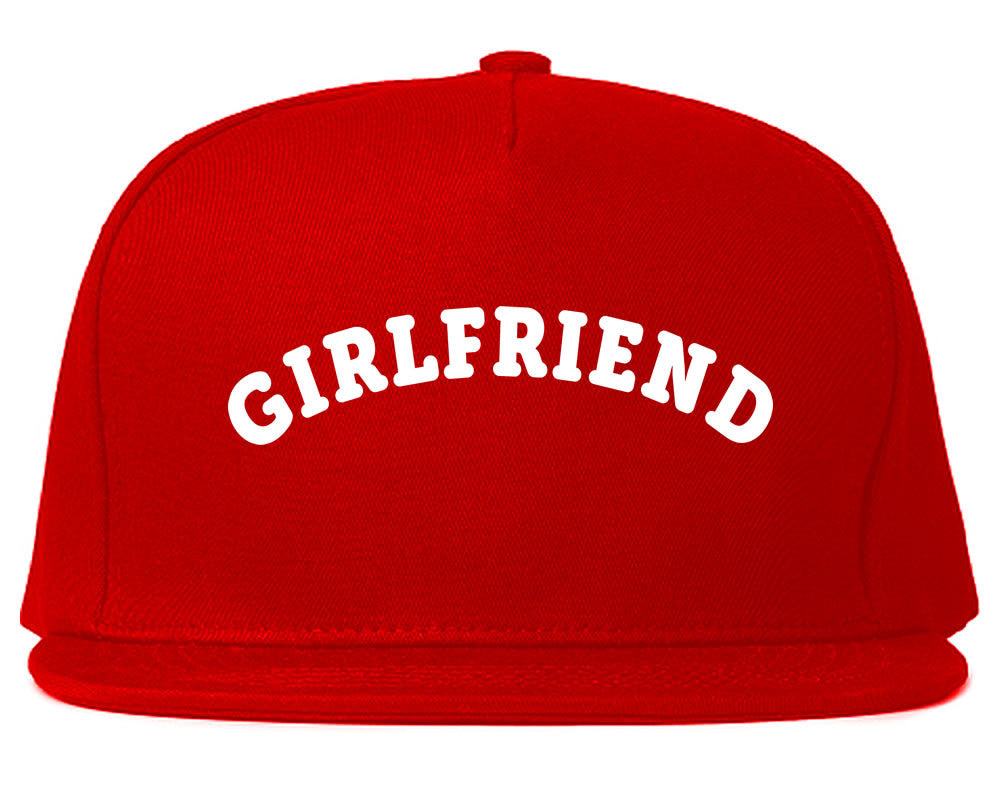 Very Nice Girlfriend GF BFF Black Snapback Hat Red