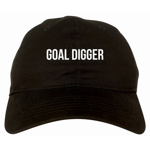 Goal Digger Dad Hat in Black
