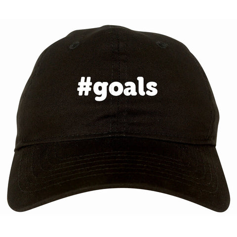 Hashtag Goals #Goals Dad Hat in Black