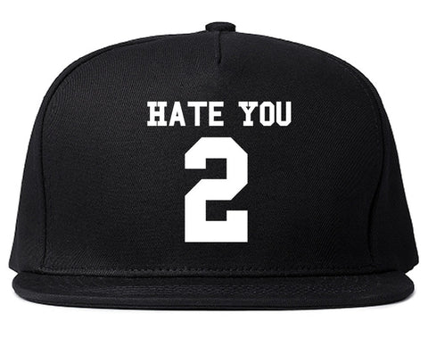 Hate You 2 Team Snapback Hat by Very Nice Clothing