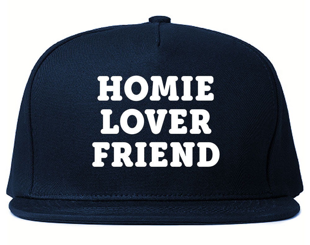Very Nice Homie Lover Friend Black Snapback Hat Navy Blue