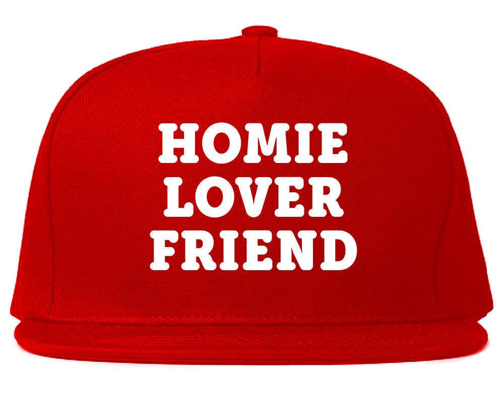 Very Nice Homie Lover Friend Black Snapback Hat Red