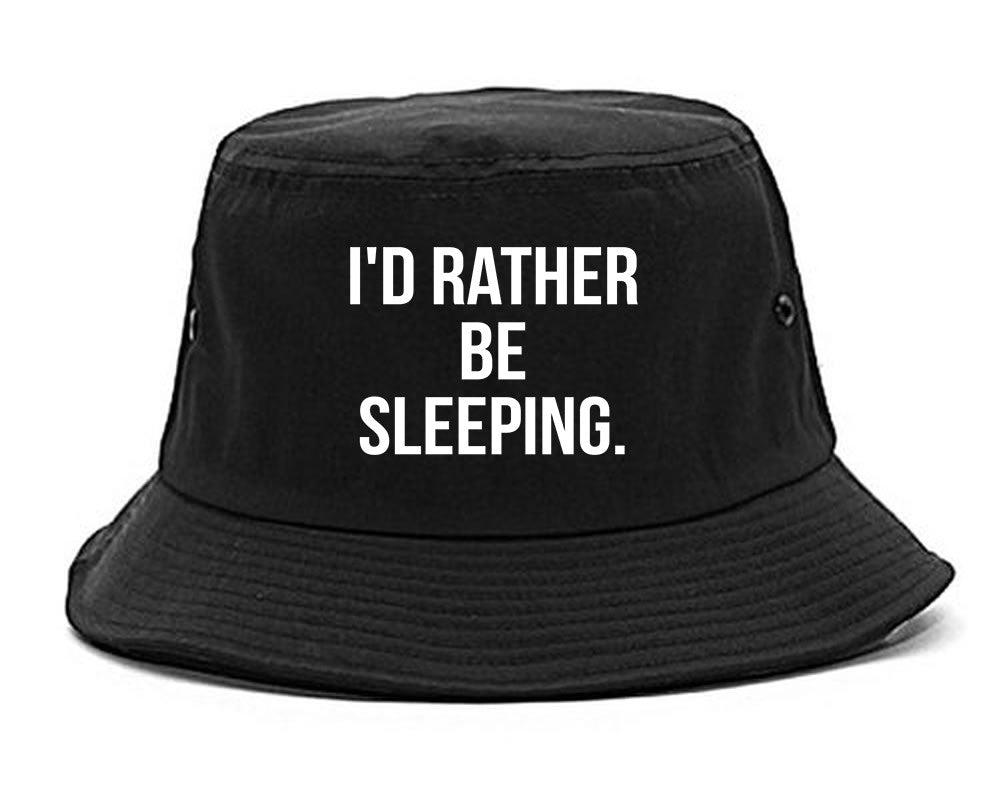 I'd Rather Be Sleeping Bucket Hat by Very Nice Clothing