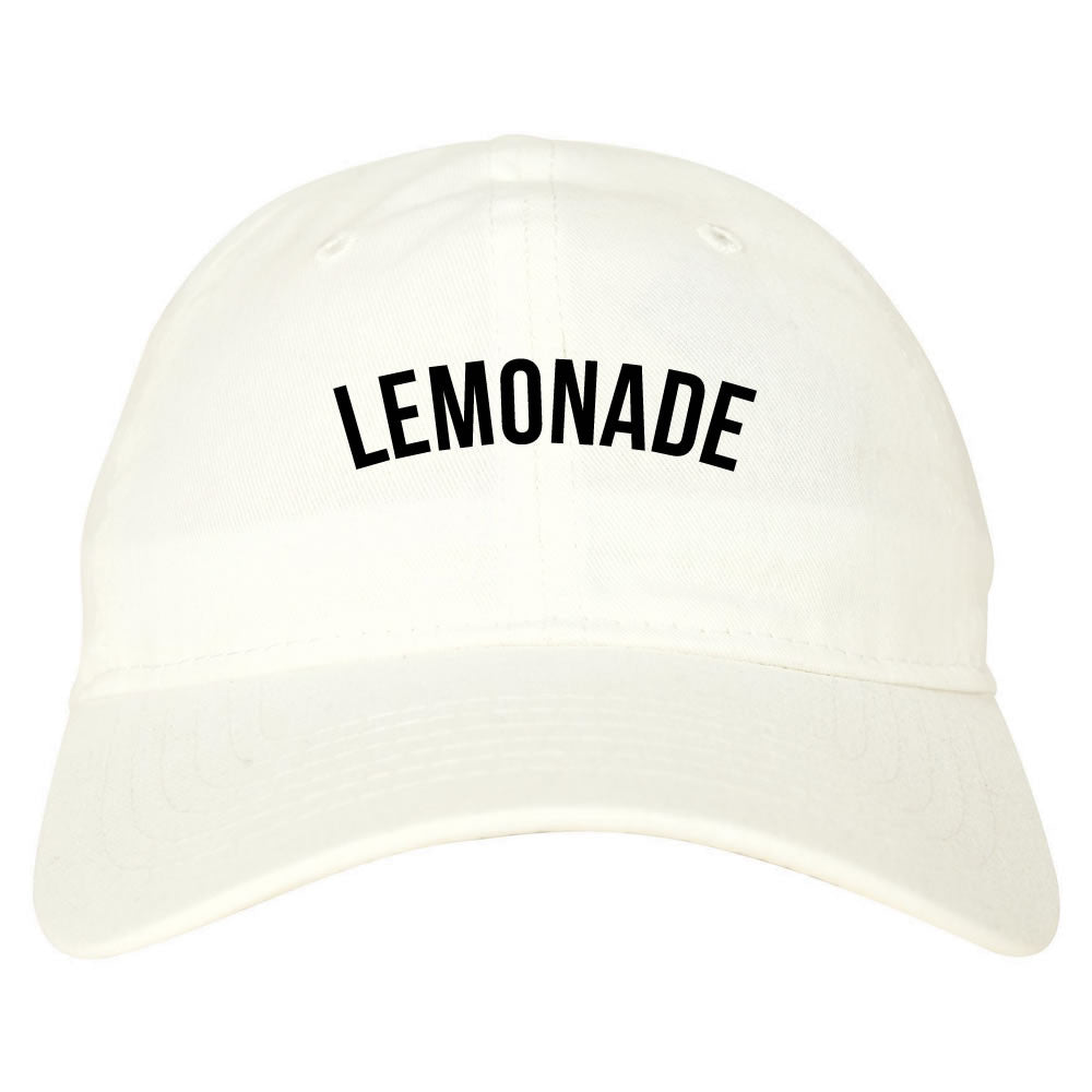 Lemonade Dad Hat In White