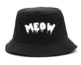 Meow Cute Goth Cat Bucket Hat by Very Nice Clothing