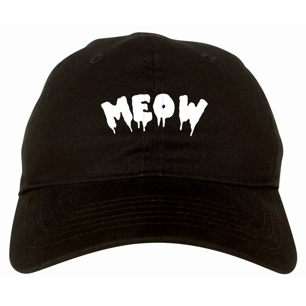Meow Cute Goth Cat Dad Hat by Very Nice Clothing