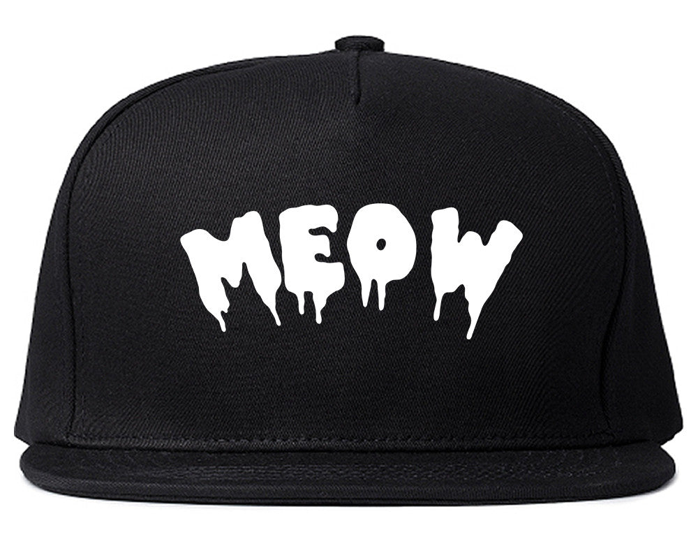Meow Cute Goth Cat Snapback Hat by Very Nice Clothing