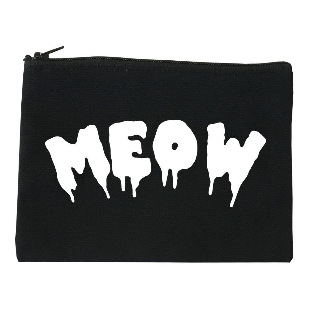 Meow Cute Goth Cat Makeup Bag by Very Nice Clothing