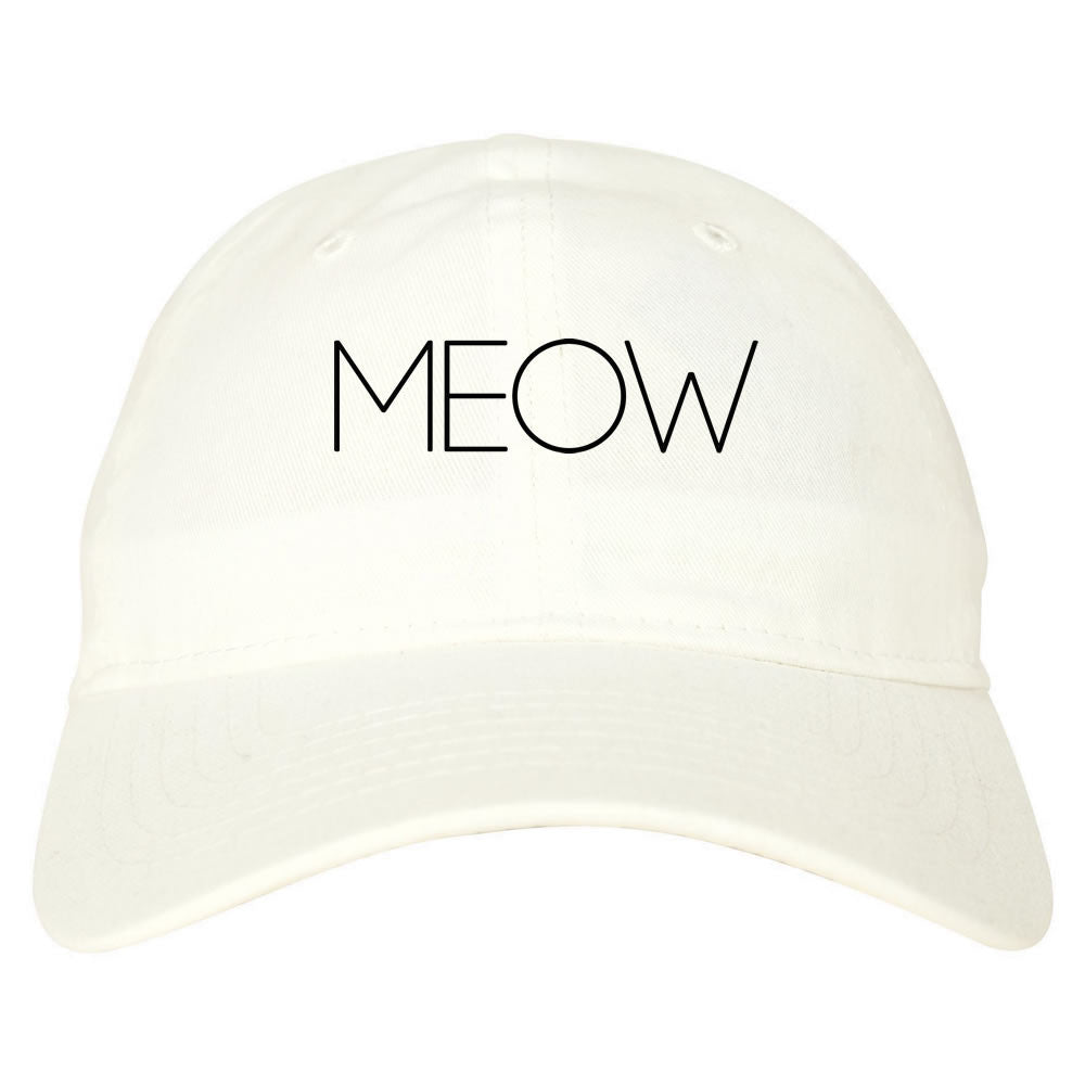 meow dad hat white