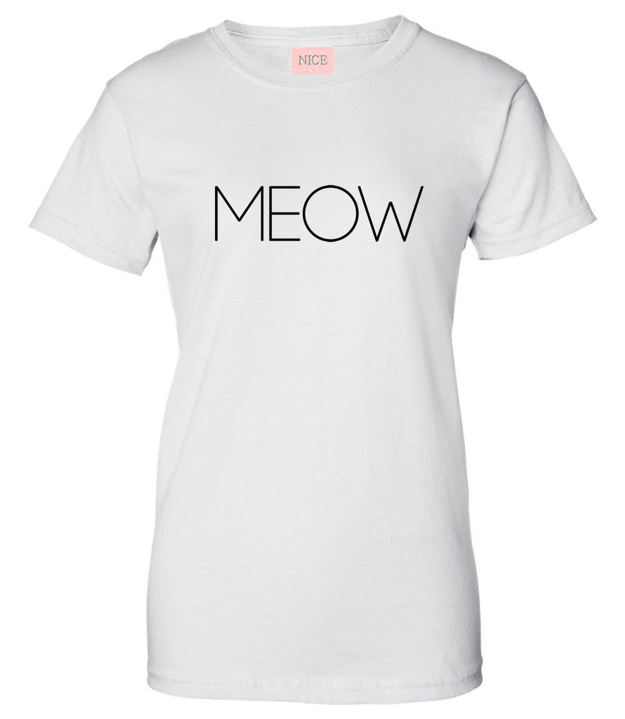 Very Nice Meow Cats Kittens Kitty Womens T-Shirt Tee White