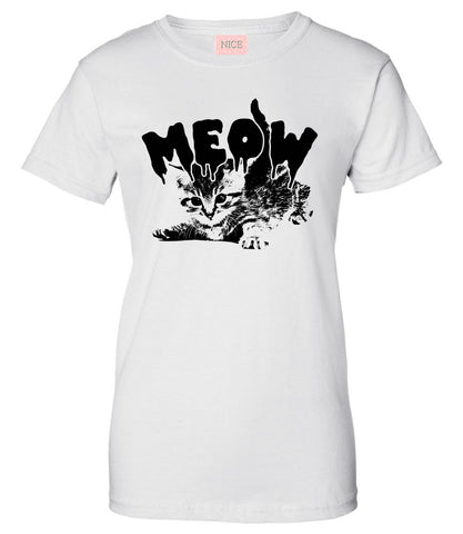 Meow Cute Goth Cat T-Shirt by Very Nice Clothing