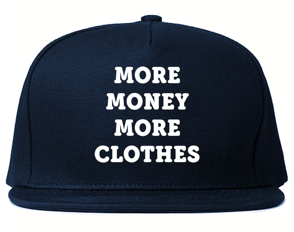 Very Nice More Money More Clothes Snapback Hat Navy Blue
