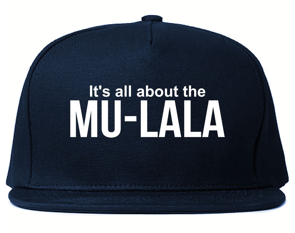 Very Nice Mula la Rihanna Black Snapback Hat Navy Blue