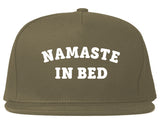 Namaste In Bed Snapback Hat by Very Nice Clothing