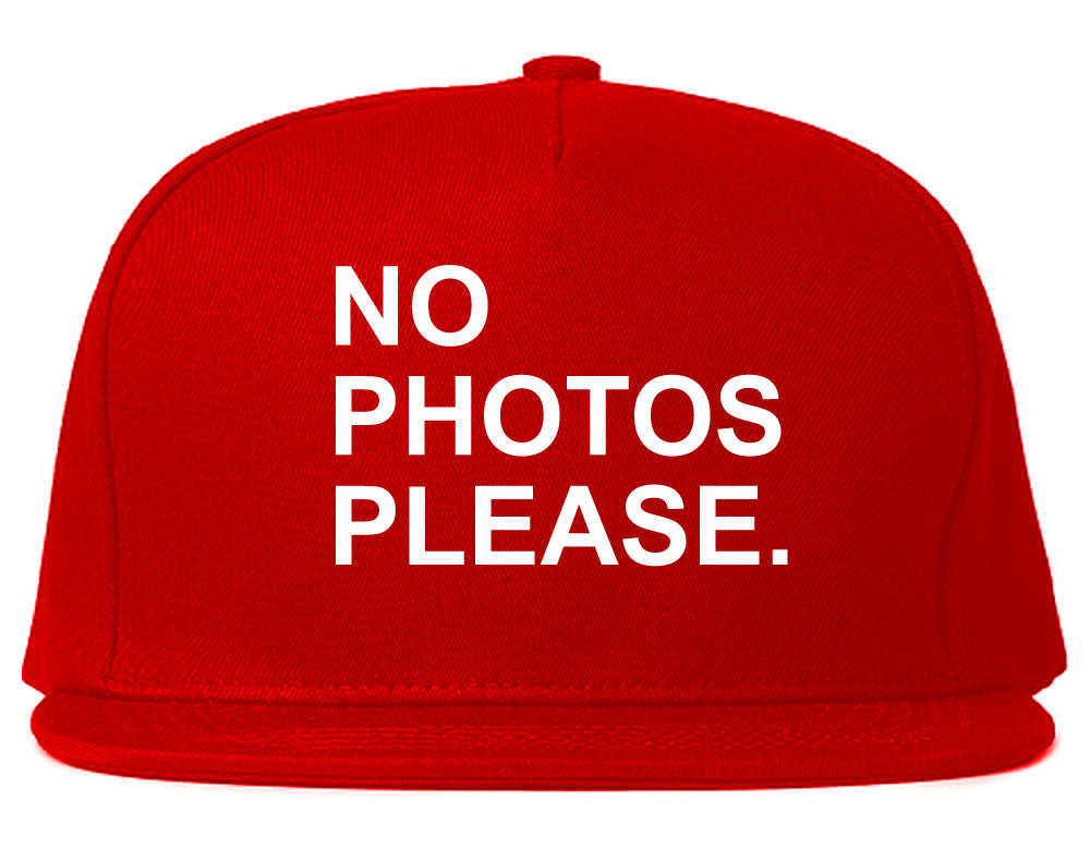 Very Nice No Photoes Please Blogger Snapback Hat Red