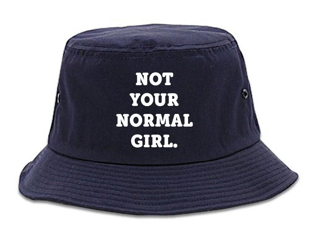 Very Nice Not Your Normal Girl Weird Bucket Hat Navy Blue
