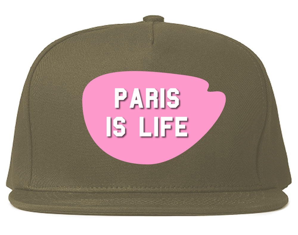 Very Nice Paris Is Life France Black Snapback Hat