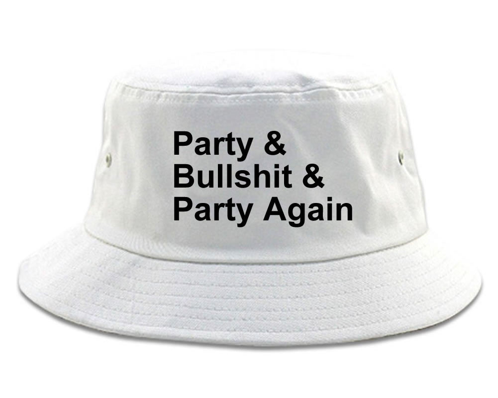 Very Nice Party and Bullshit Black Bucket Hat