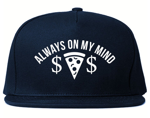 Very Nice Always On My Mind Pizza Money Snapback Hat Navy Blue