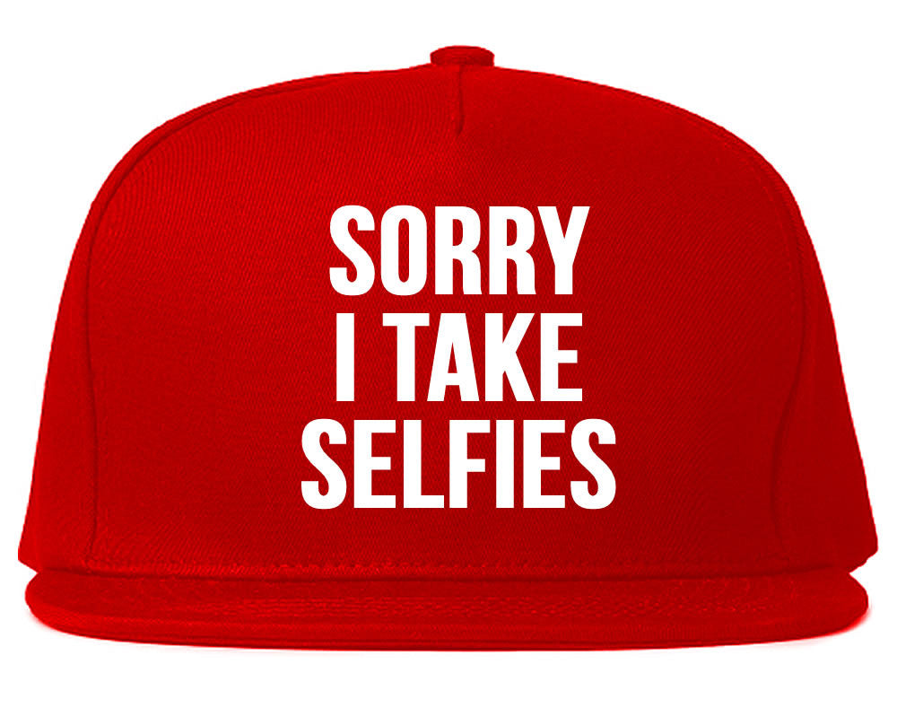 Very Nice Sorry I Take Selfies Kim Black Snapback Hat Red
